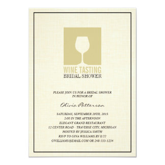 Elegant Wine Tasting Bridal Shower Invitations