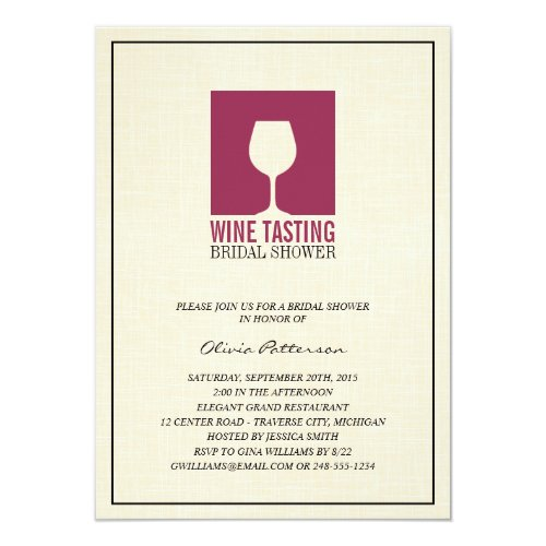 Wine Themed Bridal Shower Invitations WebNuggetzcom