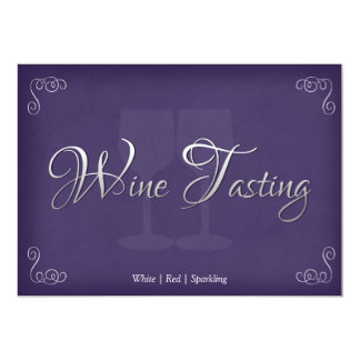 Elegant Wine Tasting Party Invitations