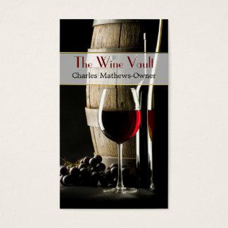 Elegant Wine Theme Custom Business Card