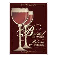 Wine Themed Bridal Shower Invitations Announcements Zazzle