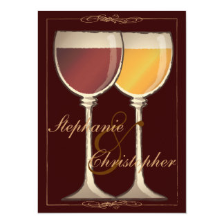 elegant wine themed bridal shower invitation
