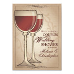 Elegant Wine Themed Couples Wedding Shower 5.5x7.5 Paper Invitation Card