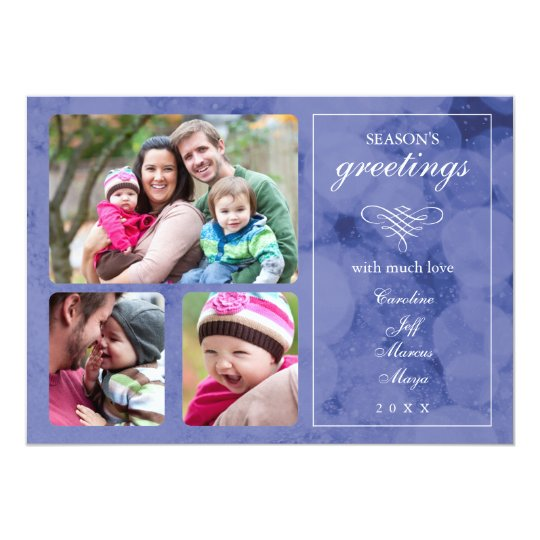 Elegant Winter Photo Holiday Card