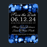 "Elegant Winter Save The Date Blue Lights Magnet<br><div class=""desc"">Elegant Winter wedding &quot;Save The Date&quot; design with Blue Lights,  Snowflakes and Sparkles,  custom names and date text.</div>"