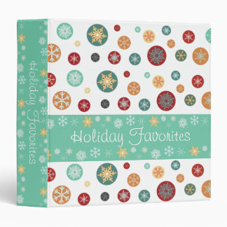 Elegant Winter Snowflakes Holiday Memories 3 Ring Binders