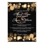 Elegant Winter Wedding Gold Lights Card