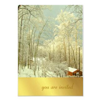 Elegant Winter Wonderland, christmas invitations