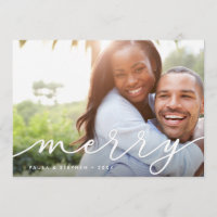 Elegant Wish | Holiday Photo Card