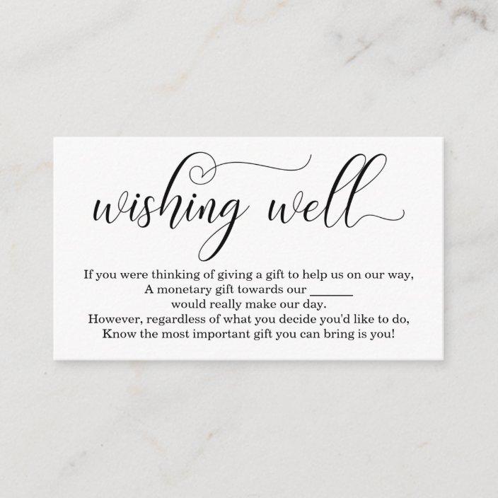 Wishing Well For Wedding Invitation