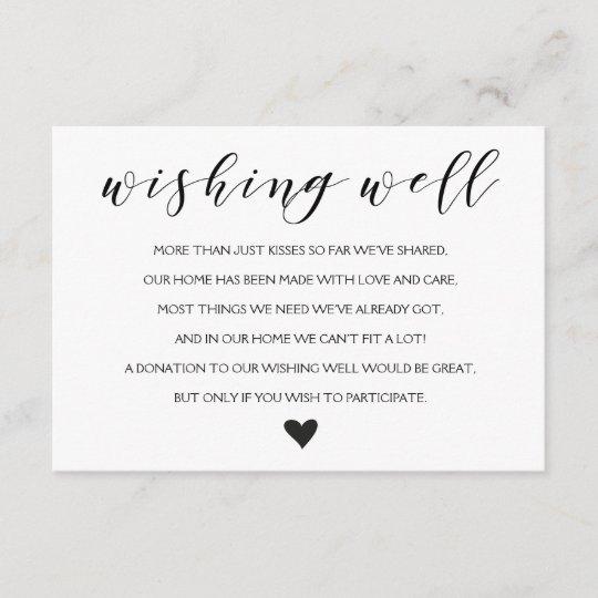 Wedding Wishing Well.Elegant Wishing Well Wedding Insert Card