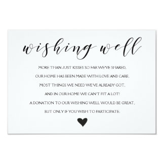 Elegant Wishing well wedding insert card
