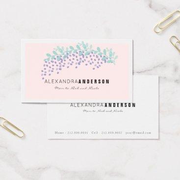 Elegant Wisteria Blush Pink Mommy Business Card