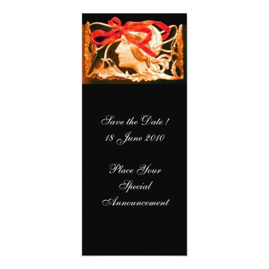 ELEGANT WOMAN BEAUTY JEWEL /LADY,RED BOW,FLOWERS CARD