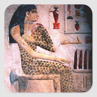 ELEGANT WOMAN ,FASHION AND BEAUTY OF ANTIQUE EGYPT SQUARE STICKER