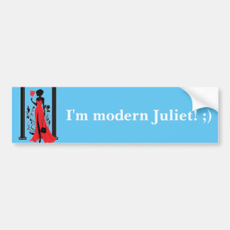 Elegant woman silhouette in red dress with mask bumper sticker
