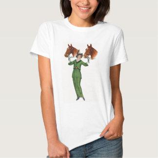 Elegant Woman with Horses T-Shirt