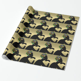 Elegant Woman Wrapping Paper - SRF