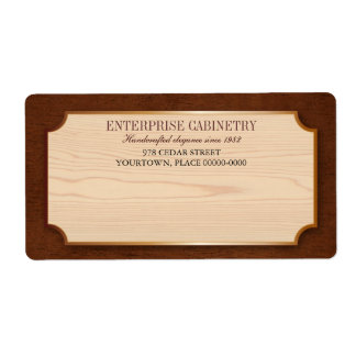 Elegant Wood Cabinetry Label