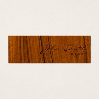 Elegant Wood Grain Baker Business Card