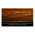 Elegant Wood Grain Interpreter Business Card