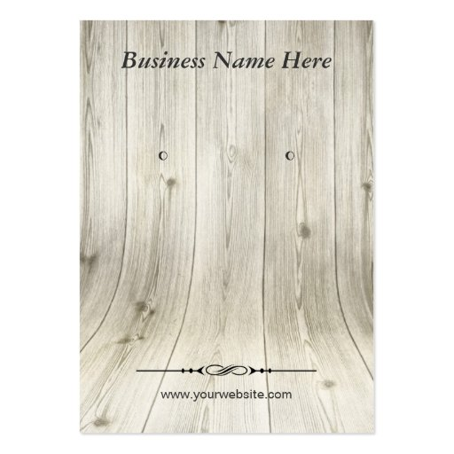 Elegant Wood Grain Look - Earring Display Cards Business Card Templates