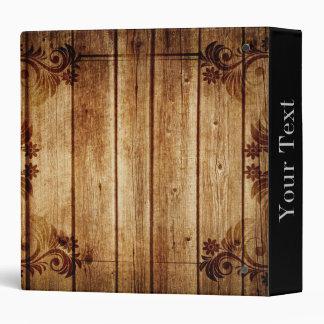 Elegant Wood Texture 3 Ring Binders