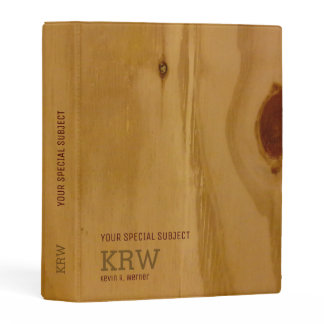 elegant wood texture /rustic to-personalize mini binder