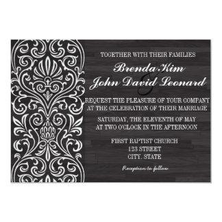 Elegant Wood Wedding Invitation