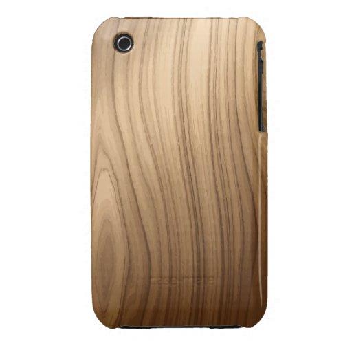 Elegant Wooden Style iPhone 3 Case