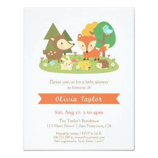 Elegant Woodland Animal Baby Shower Invitations