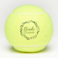 Elegant Wreath Bride Custom Wedding Party Gift Tennis Balls