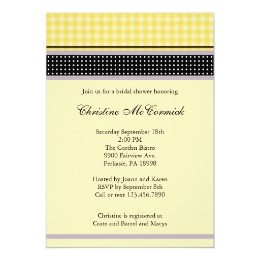 Elegant Yellow and Black Invitation