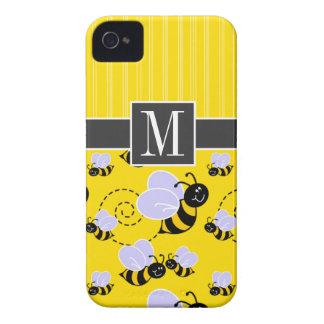 Elegant Yellow & Black Bee iPhone 4 Cover