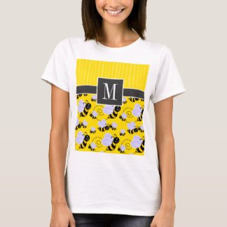 Elegant Yellow & Black Bee T-Shirt