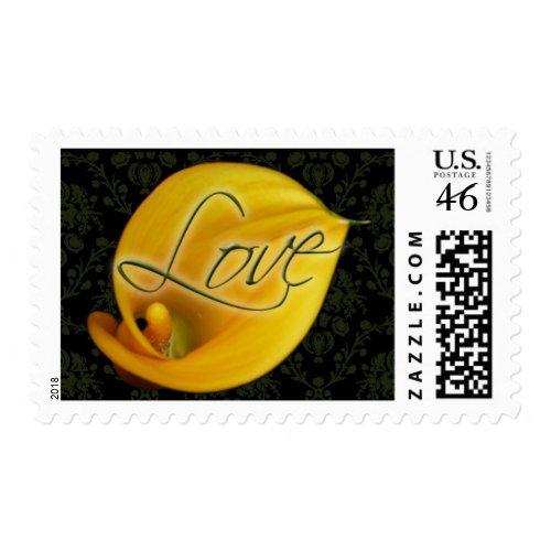 Calla Lily Wedding Theme Custom Postage Stamps