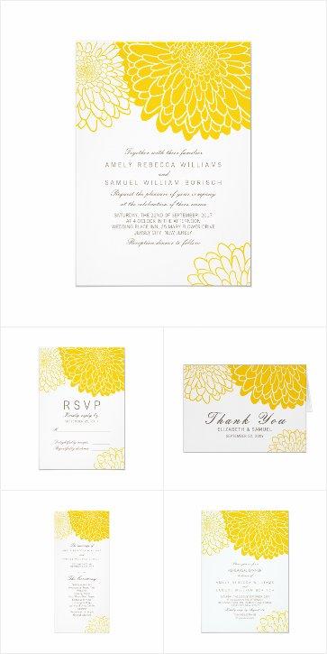 Elegant Yellow Chrysanthemums Wedding