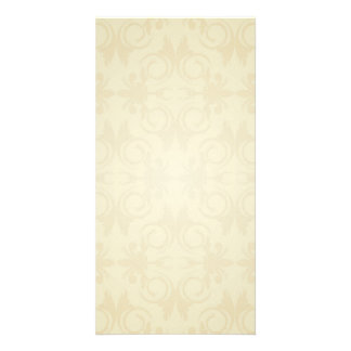 Elegant yellow damask wedding gift card