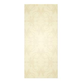 Elegant yellow damask wedding gift rack card