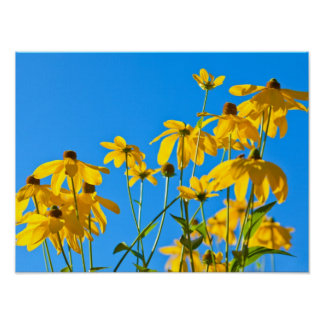 Elegant Yellow Floral Poster