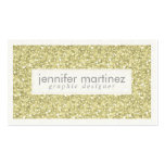 Elegant Yellow Gold Tones Glitter & Sparkles 3 Double-Sided Standard Business Cards (Pack Of 100)