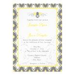 Elegant Yellow & Gray Garden Wedding Invitations