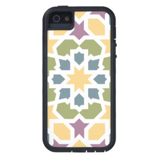 Elegant yellow, green Moroccan geometry and lilac