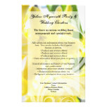 Elegant Yellow Hyacinth with White Swirl Personalized Flyer