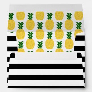 Elegant Yellow Pineapple Pattern Envelope