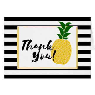 Elegant Yellow Pineapple Thank You Card