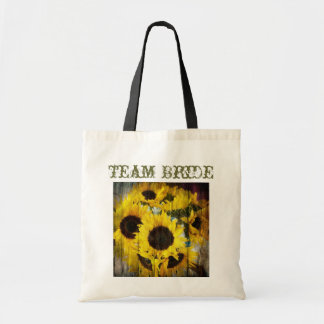 elegant yellow sunflowers floral country wedding tote bag