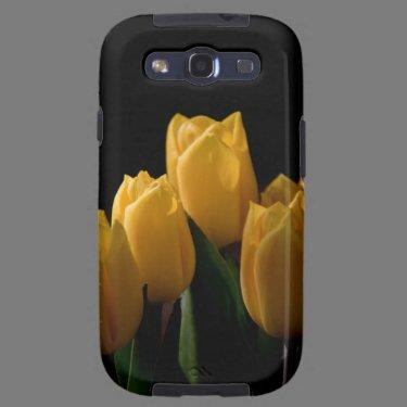 Elegant yellow tulips galaxy s3 cases