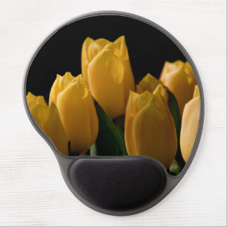 Elegant yellow tulips gel mouse mat