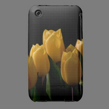 Elegant yellow tulips iPhone 3 Case-Mate cases